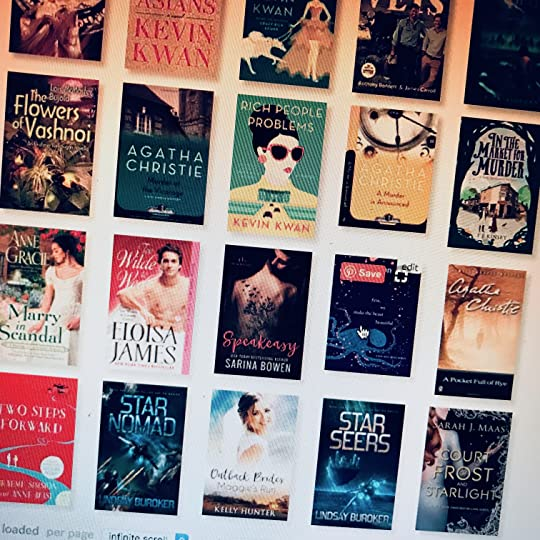 Image of grid of book covers from Goodreads read-2018 list
