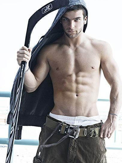 sexy male hockey player