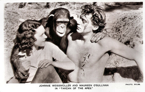 Johnny Weismuller and Maureen O'Sullivan in Tarzan the Ape Man (1932)