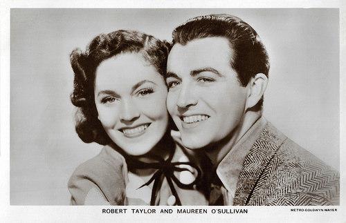 Maureen O'Sullivan and Robert Taylor in A Yank at Oxford (1938)