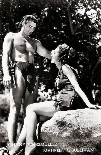 Johnny Weismuller and Maureen O'Sullivan