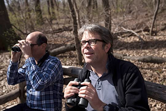 Jonathan Franzen watching birds