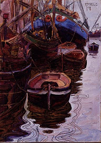 800px-Schiele-Boote-im-Hafen-von-Triest-1908