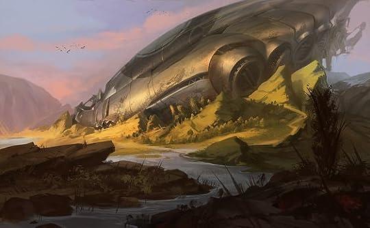 crashed spaceship
