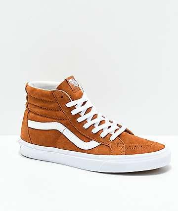 Vans Sk8 Hi Slim Zip Sneaker Damen beige orange im Online Shop von SportScheck kaufen