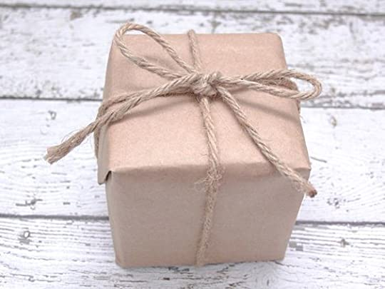 gift wrapped in brown paper and twine