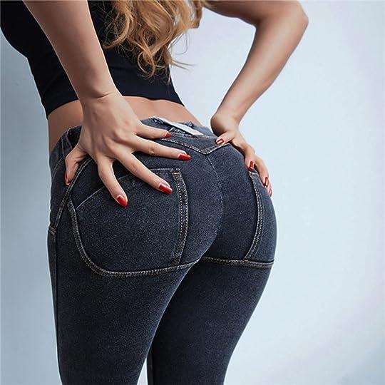 b671819e4b Aliexpress Buy Oyoo Women Butt Lift Ruched Yoga Pants Low
