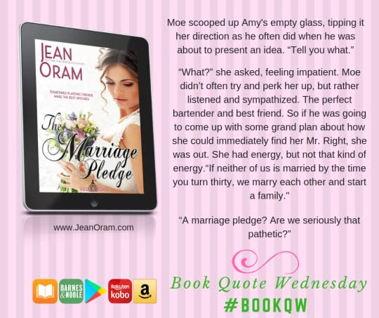 A short quote from the book The Marriage Pledge--two best friends agree to make a pledge to marry at age 30.