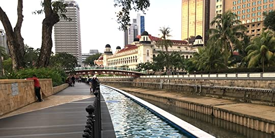 This spot is just a few steps away from the Masjid Jamek LRT station.