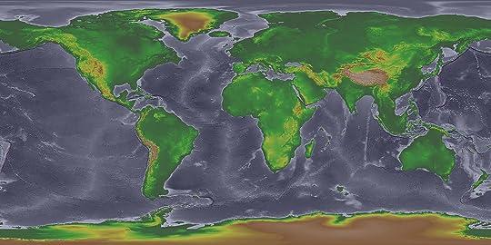 Landmasses during the last Ice Age