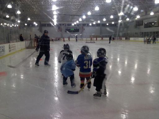 children's hockey practice