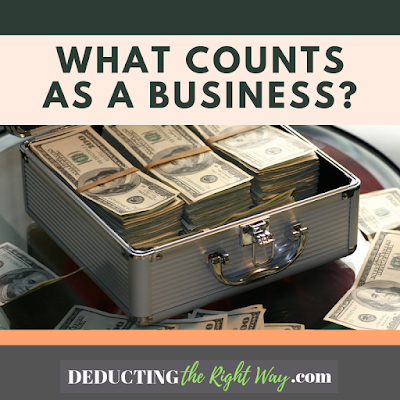 What is a small business?   www.deductingtherightway.com