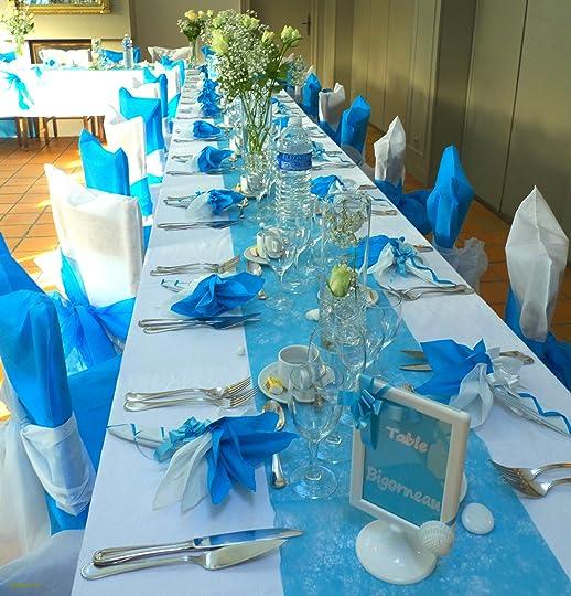 Tr¨s déco de table en bleu Turquoise et blanc