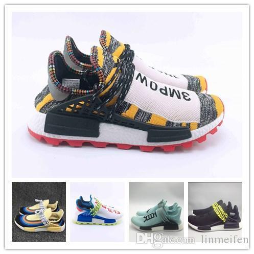 b9a08da697 New Pharrell Williams Tennis Solarhu Nmd Shoes Hu V2 Human Race
