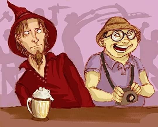 Image result for rincewind and twoflower fanart