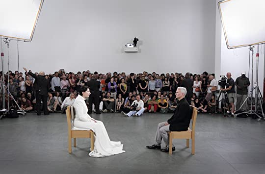 Abramović with the last sitter, curator Klaus Biesenbach; Rights: MoMA/Marco Anelli