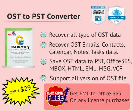 OST to PST Recovery Software - OST to PST Converter Showing