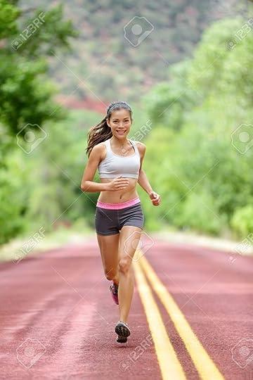pretty runner in a race