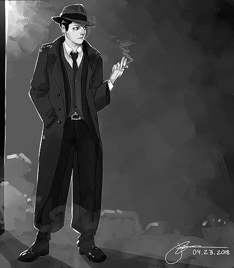 Image result for noir detective fanart