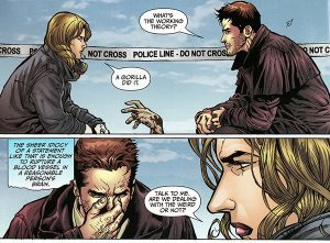 Image from graphic novel page featuring Harry Dresden and Lieutenant Karin Murphy - Welcome to the Jungle by Jim Butcher