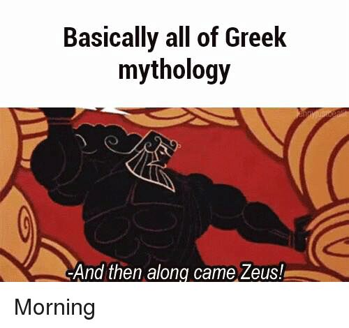 Image result for greek mythology memes