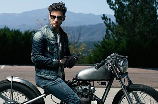 hot man on a motorcycle