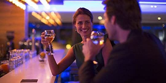 couple meet at the bar