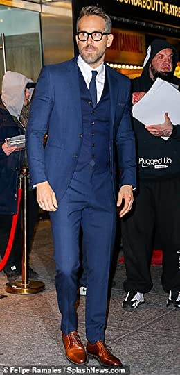 Image result for three piece suit ryan reynolds