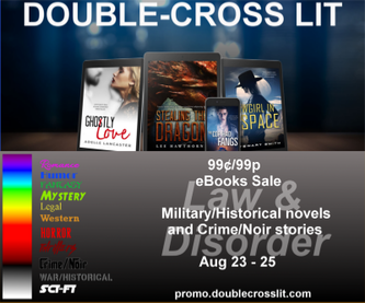 Double-Cross Lit banner for August 2019