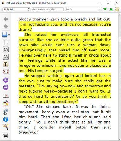 screencap of the book wherein the ~hero~ is an even BIGGER jerk