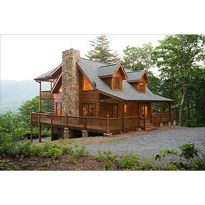 Fancy cabin in the woods