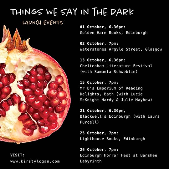 Things We Say in the Dark launch events