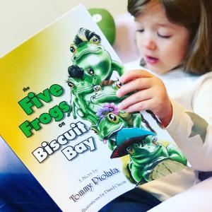 https://thebabybookwormblog.wordpress.com/2019/02/23/the-five-frogs-on-biscuit-bay-tommy-piolata/