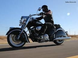 sexy man on an indian chief motorcycle