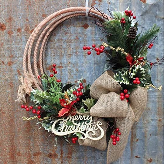 Western lariat rope Christmas wreath