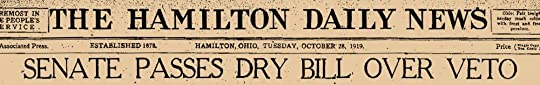 "The Hamilton Daily News Announces Passage of ""Dry Bill"""