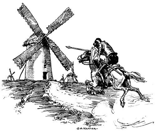 Image result for don quixote windmill
