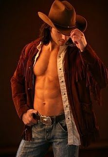long haired cowboy