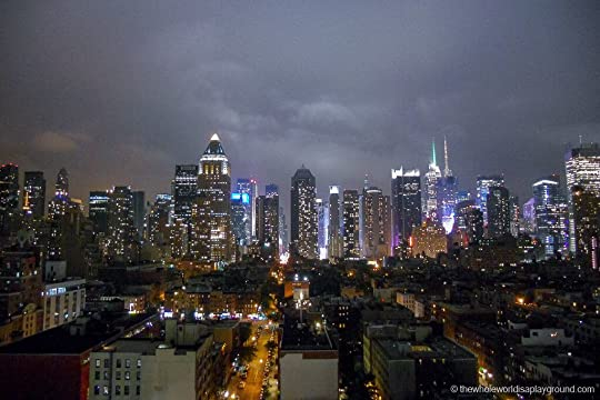 Image result for new york skyline at night from rooftop