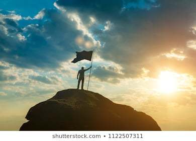 Image result for flag on the mountain top
