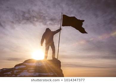 Image result for planting flag on mountain