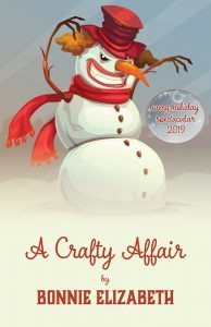 Scary snowman with title of story A Craft Affair by Bonnie Elizabeth