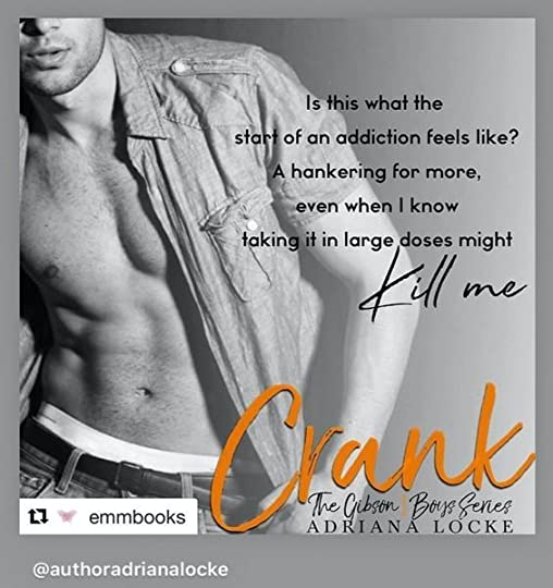Crank is a standalone romance in a new small town, blue-collar series from USA Today bestselling author Adriana Locke. Join readers everywhere as they fall in love with the delicious Gibson Boys.
