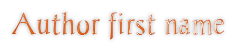 Author first name