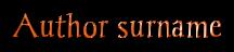Author surname