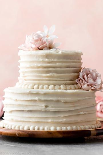 homemade 2 tier wedding cake