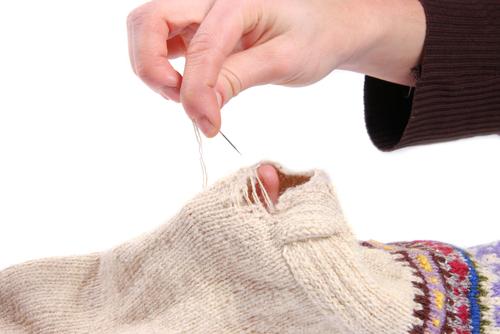 Mending the socks