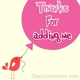 Image result for thanks for adding me