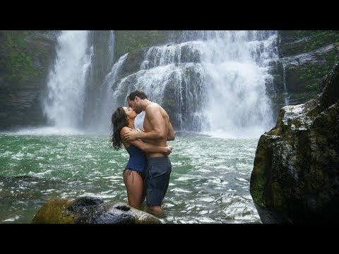 couple kissing in a waterfall - Google Search
