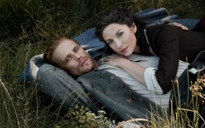 Jamie and Claire in the stable.